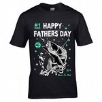 Premium Fathers Day Fishing Angler Motif Fisherman Freshwater & Sea Fishing gift men's t-shirt top